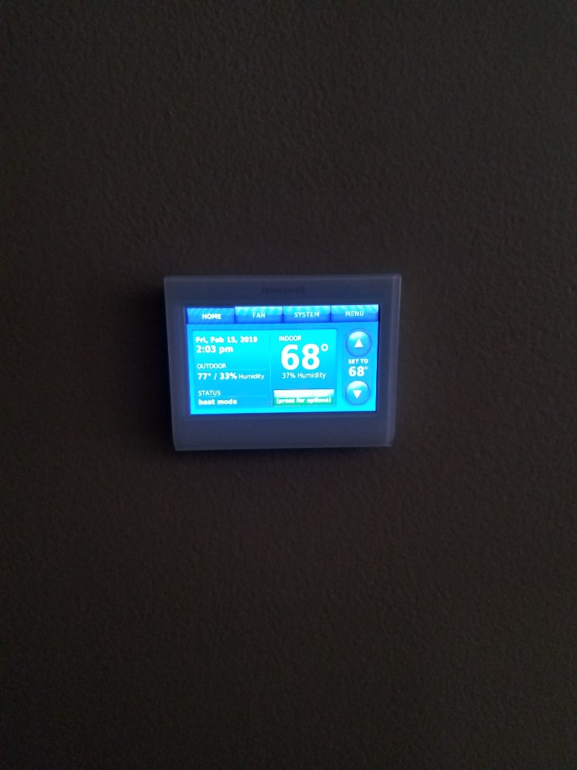 Buffalo, MN - Thermostat service. Installed a new Honeywell thermostat.