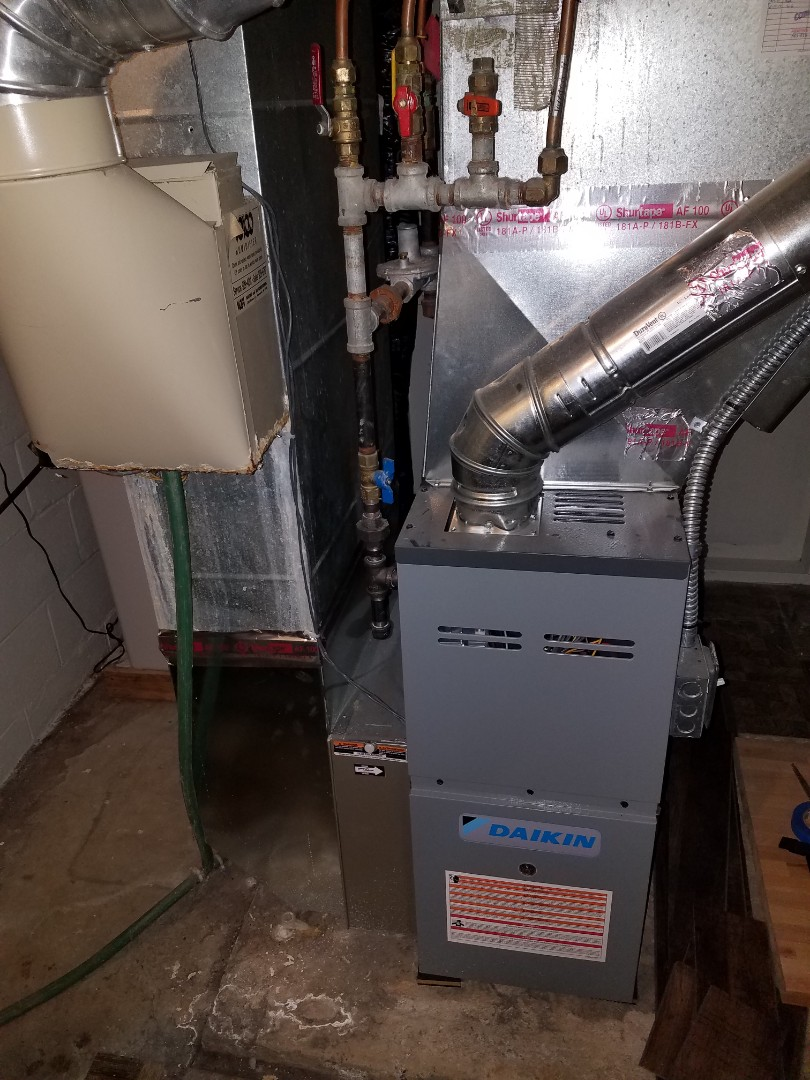 Maple Grove, MN - Furnace service. Replaced a flame safety sensor on a daikin furnace.