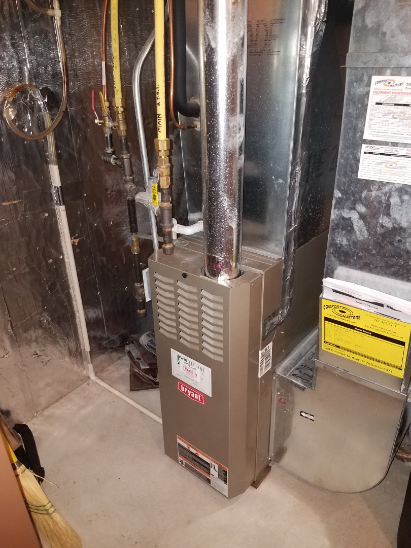 Brooklyn Park, MN - Furnace tune up and clean in Bryant unit in Brooklyn park