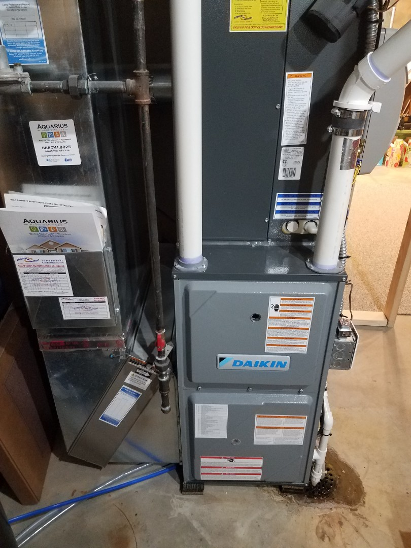 Maple Plain, MN - Heating maintenance. Changed out faulty furnace control board on a Daikin furnace.