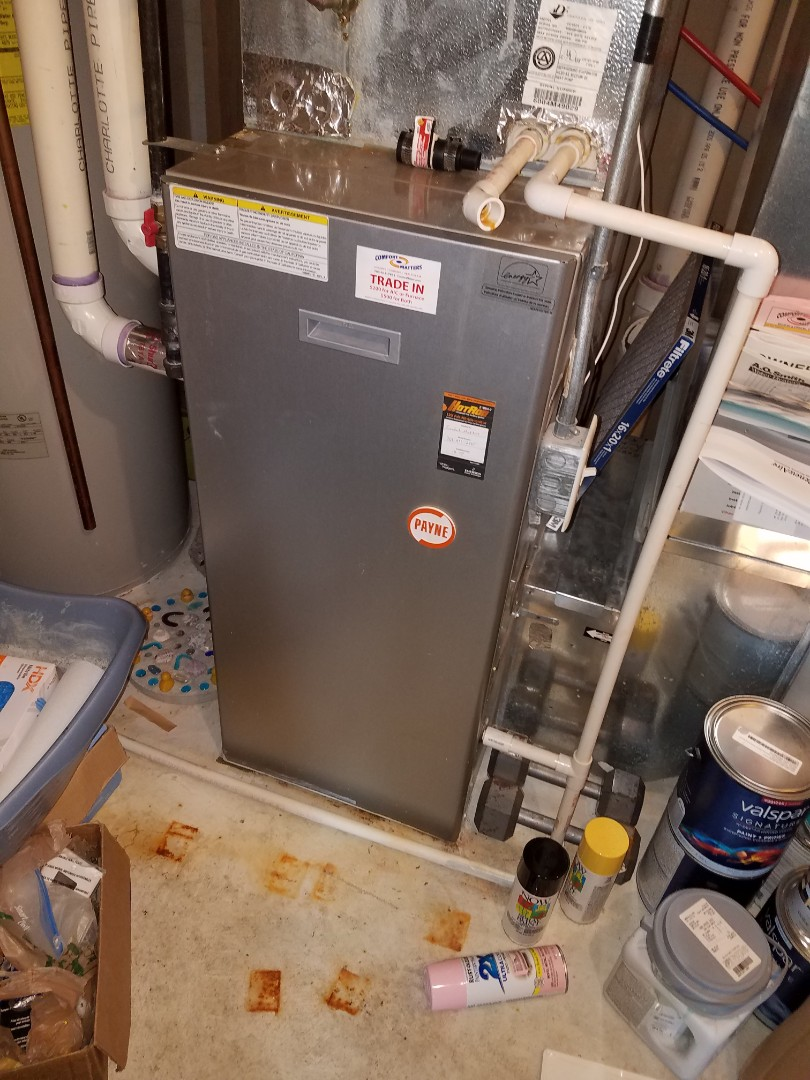 Otsego, MN - Furnace tune up and cleaning on Payne furnace