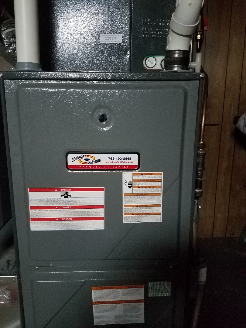 Champlin, MN - Furnace tune up and clean on amana unit in champlin
