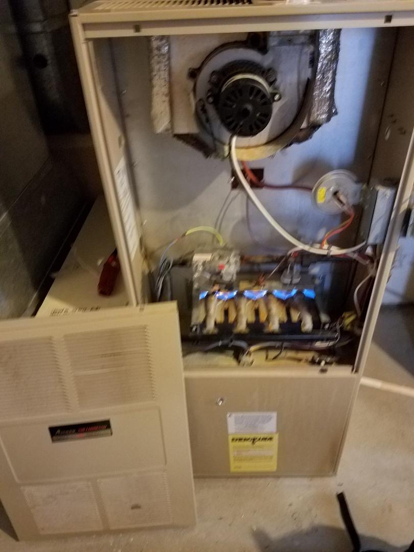Champlin, MN - Furnace service on amana furnace