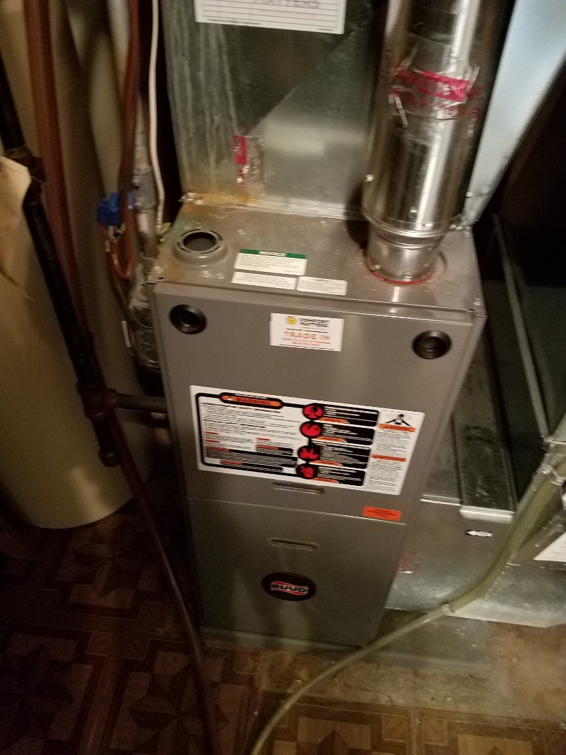 Champlin, MN - Furnace tune up and cleaning on ruud furnace