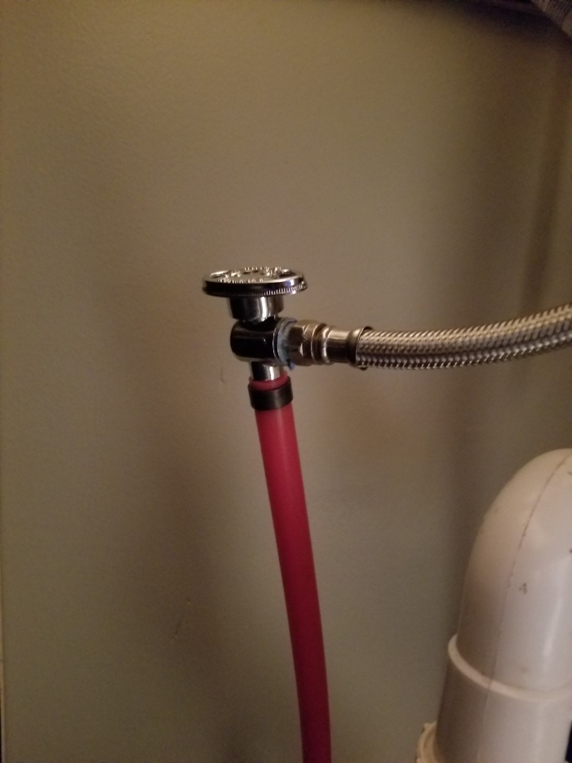 Georgetown, IN - New isolation valve, shut off valve under bathroom sink