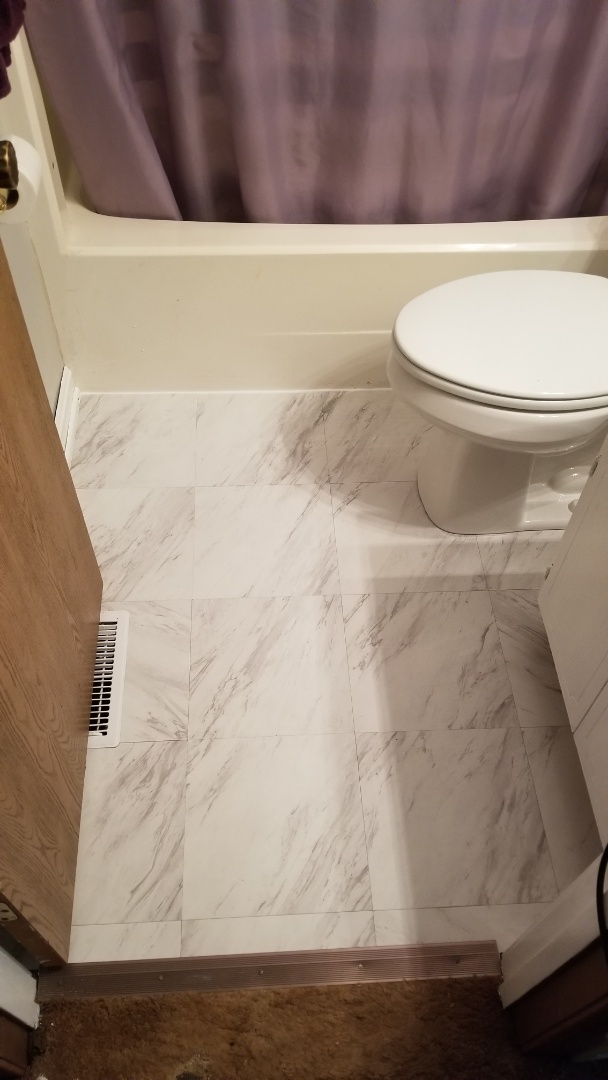 Jeffersonville, IN - Installed new toilets and new floor