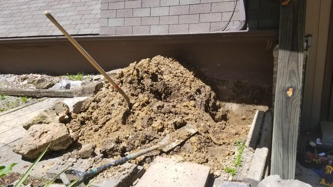 Corydon, IN - Repaired water leak in yard