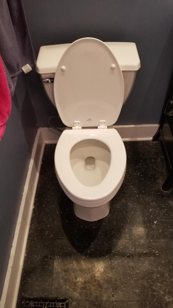 Jeffersonville, IN - New pressure assist toilet.