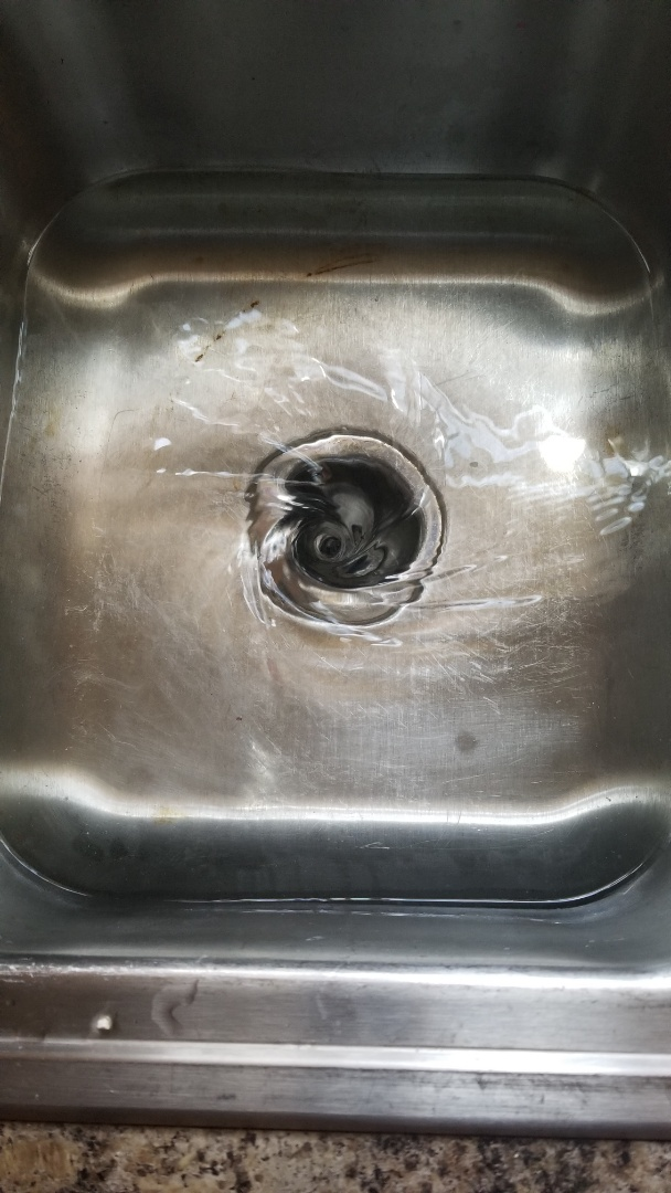 Cleaned kitchen sink drain