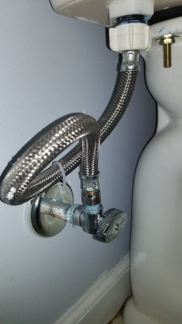 New Albany, IN - New shut off valve for toilet repair