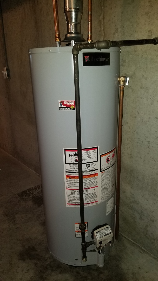 Louisville, KY - Water heater installation and drain flush and treat