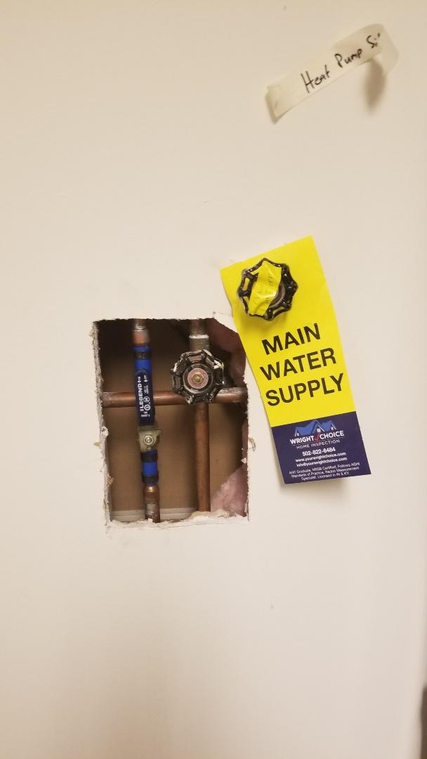 New shutoff valve in laundry room
