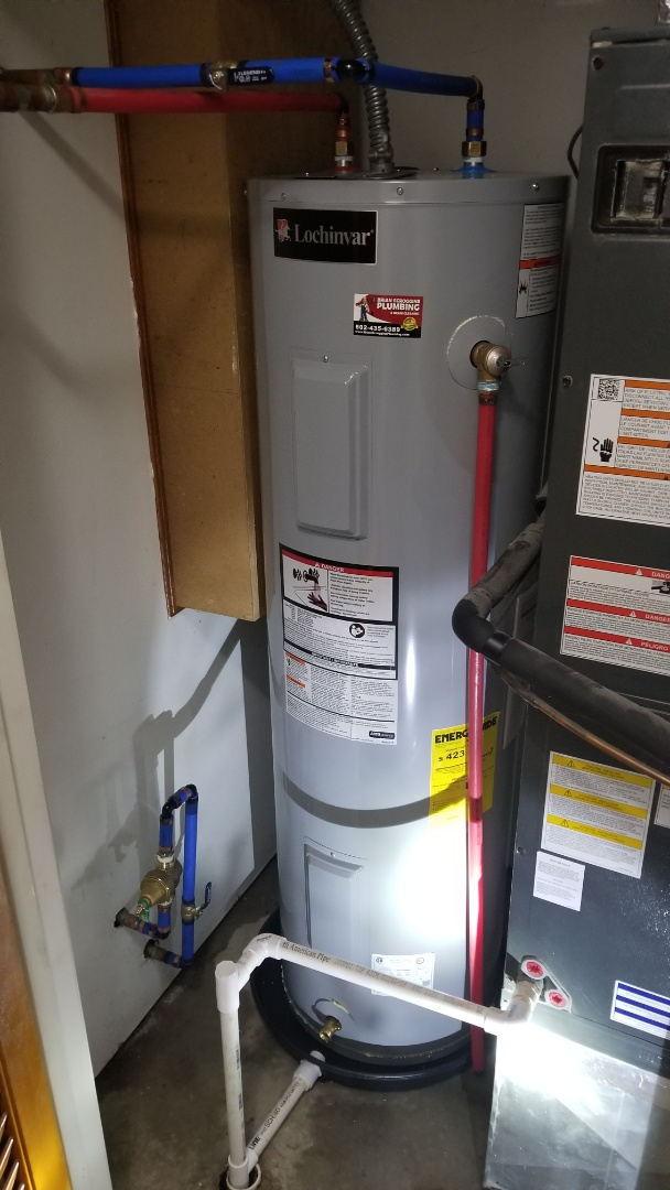 Jeffersonville, IN - Install new water heater and pressure reducing valve