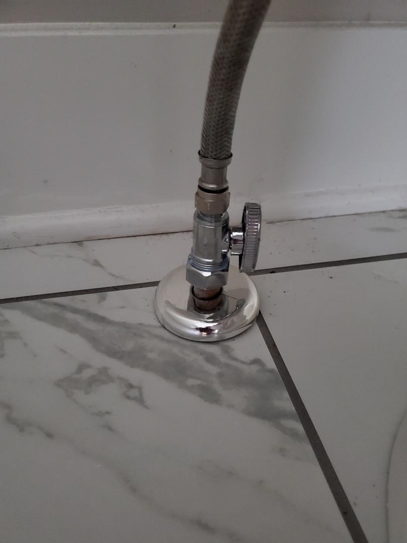 new shut off valve for toilet
