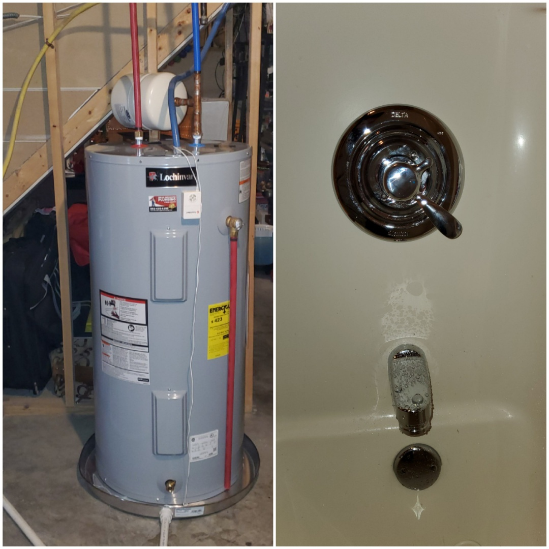 Jeffersonville, IN - New water heater and tub and shower valve