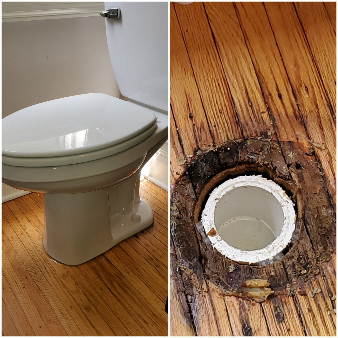 Louisville, KY - New flange for toilet