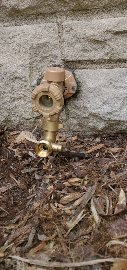 Sellersburg, IN - Install new water service, two new outside faucets, new water service to bypass leak in yard, new water system in crawl space, new stainless steel washer hoses, new toilet seat, new shut off valve, prv, pressure control system, new boiler drains, new shut off valves for kitchen sink faucets and dishwasher