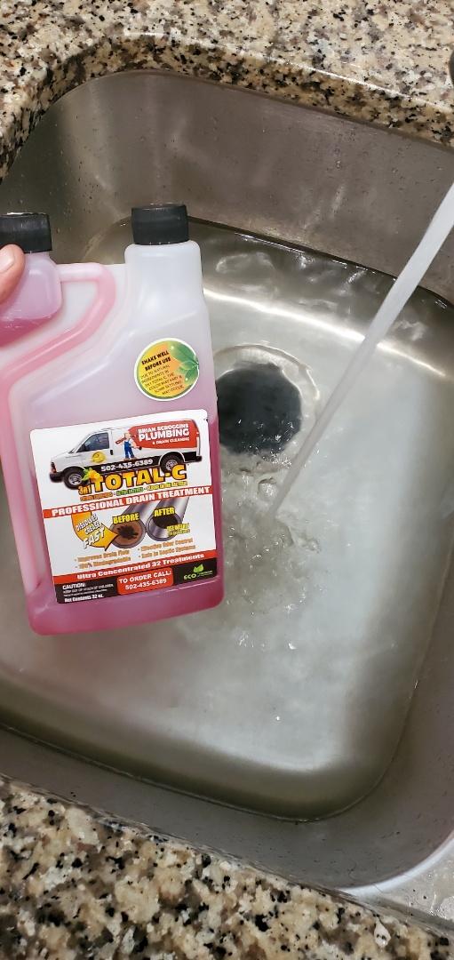 Jeffersonville, IN - Cleaned kitchen sink drain