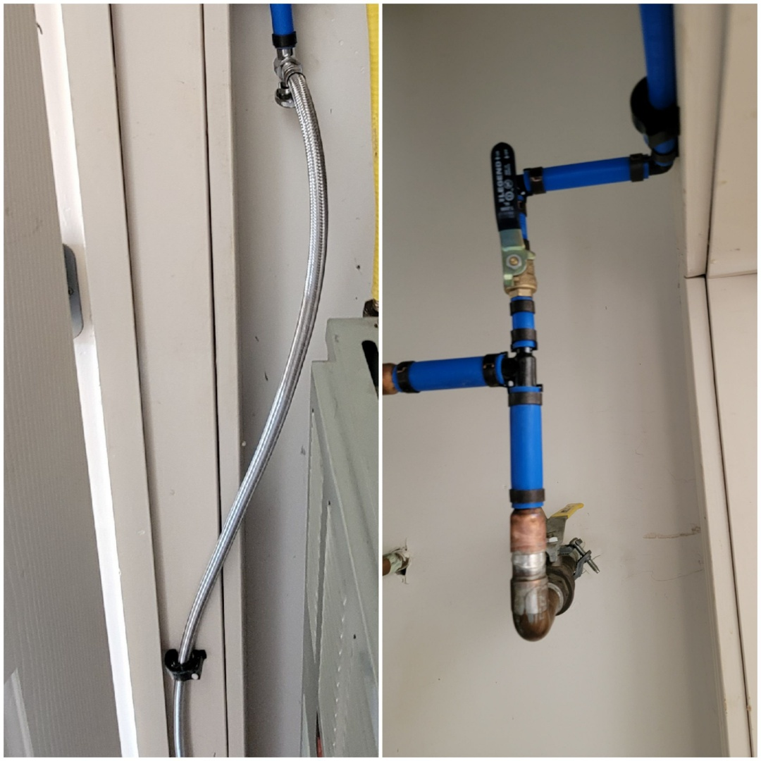 New water line for ice maker