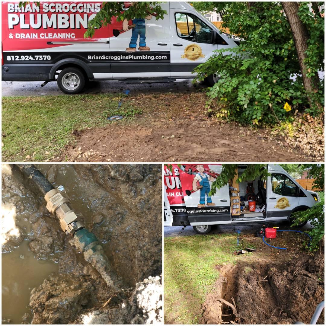 Jeffersonville, IN - Water line leak repair