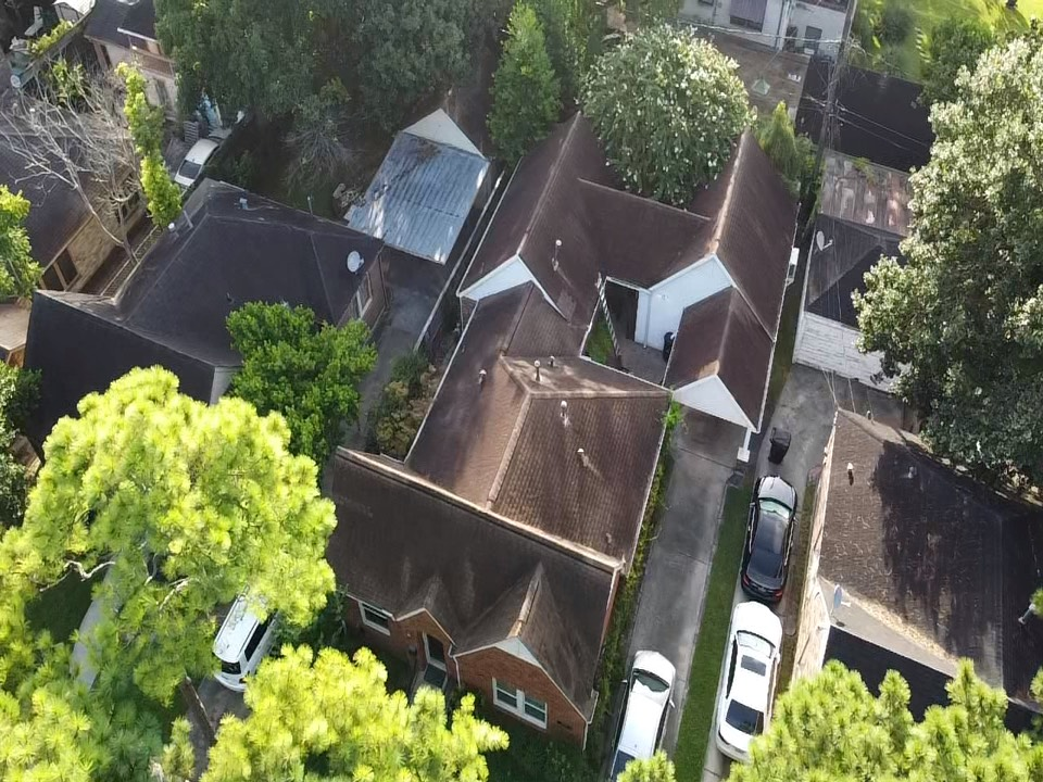 Houston, TX - Roof inspection for a new client. We are working in conjunction with ICON Power who is installing roof top solar panels.