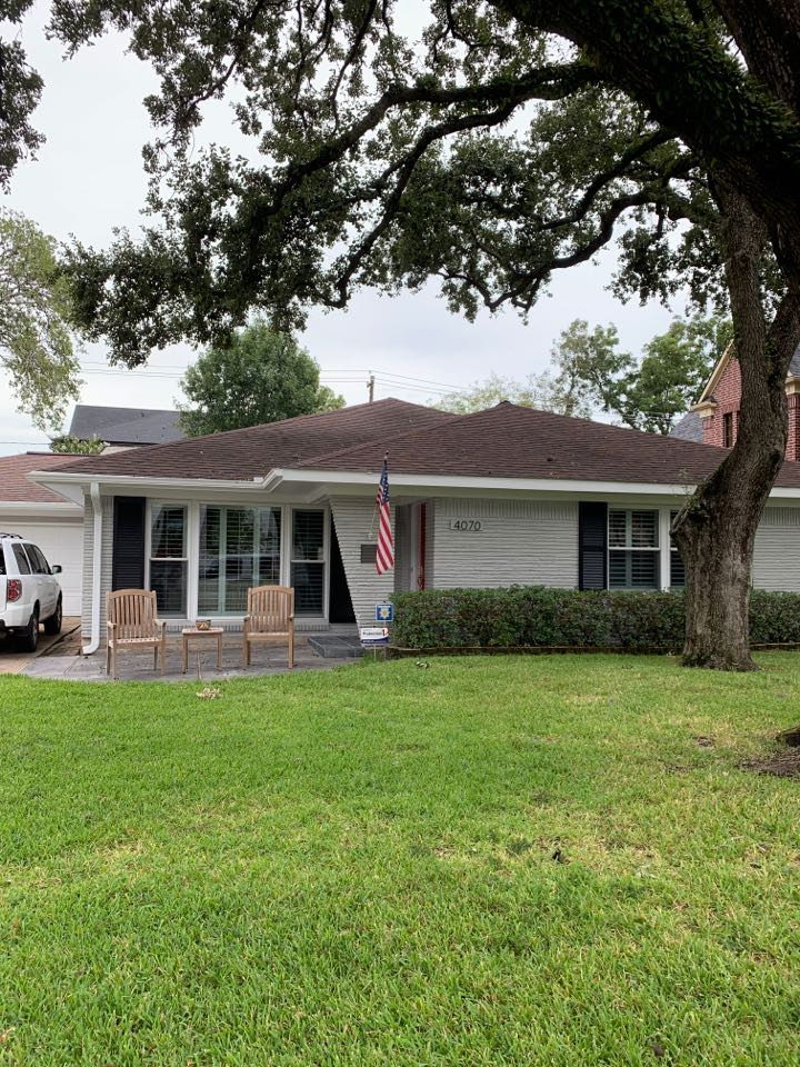 Houston, TX - In Breas Heights today inspecting roofs.