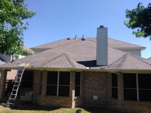 San Antonio, TX - Roof Replacement with GAF Timberline HD Weathered Wood Shingles and Z-Ridge
