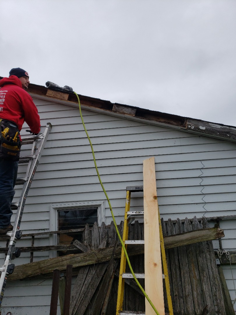 Replace rotten wood and wrapping with new ACM  Aluminum facia and sofit