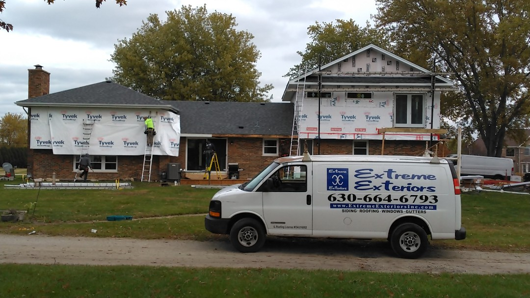 LP Smart siding and trim, Mastic vinyl shake siding in the gables, ACM aluminum soffit, fascia, gutters and downspouts.