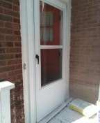 Entrance door replacement screen door replacement