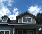Composite soffit and fascia architectural shingles