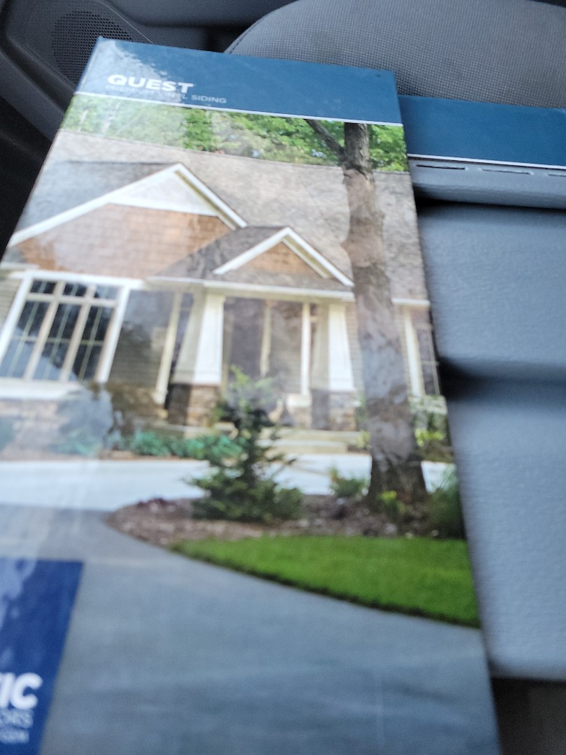New roof vinyl siding gutters