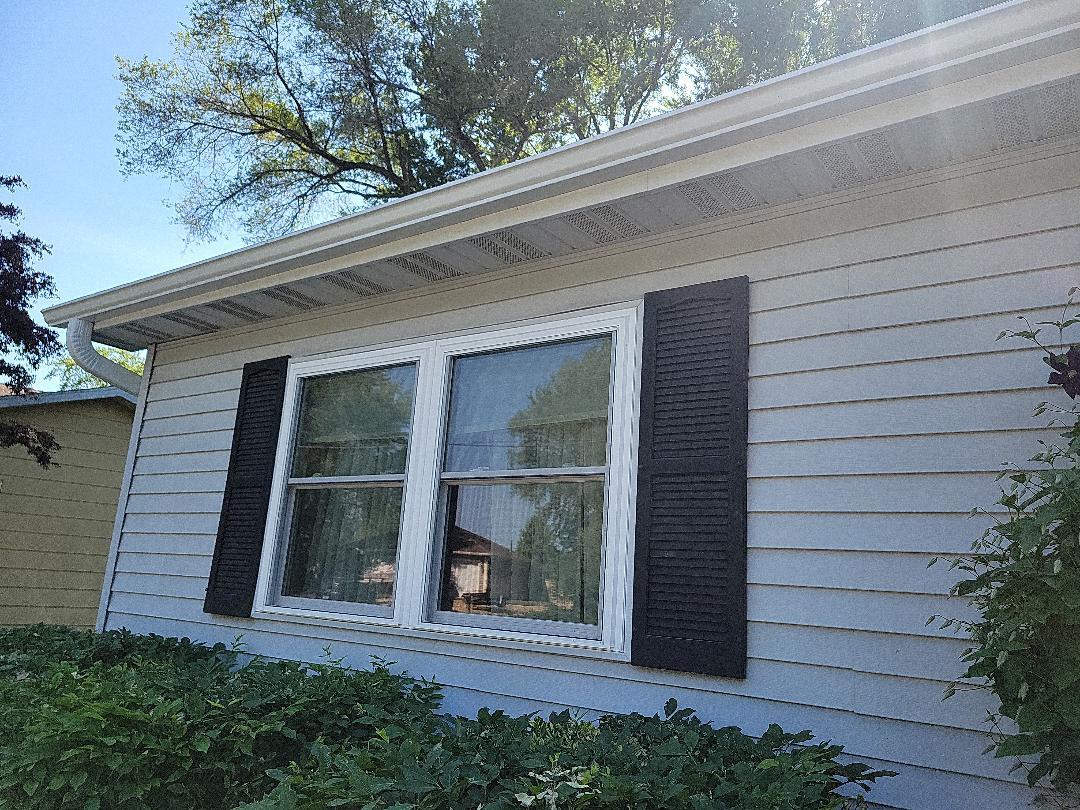 New Hawthorne windows aluminum seamless gutters gutter apron