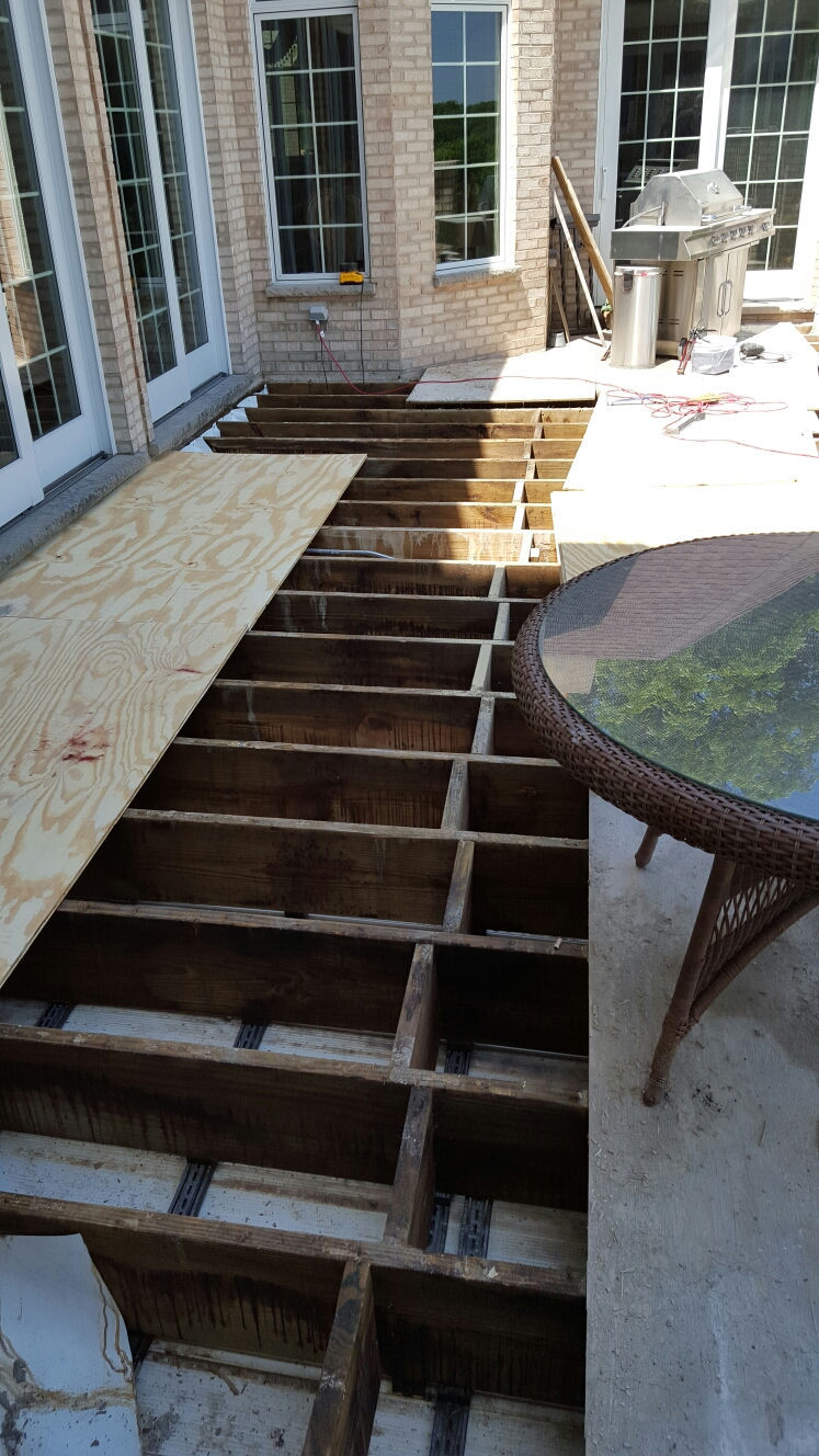 Elburn, IL -  New decking before new tile