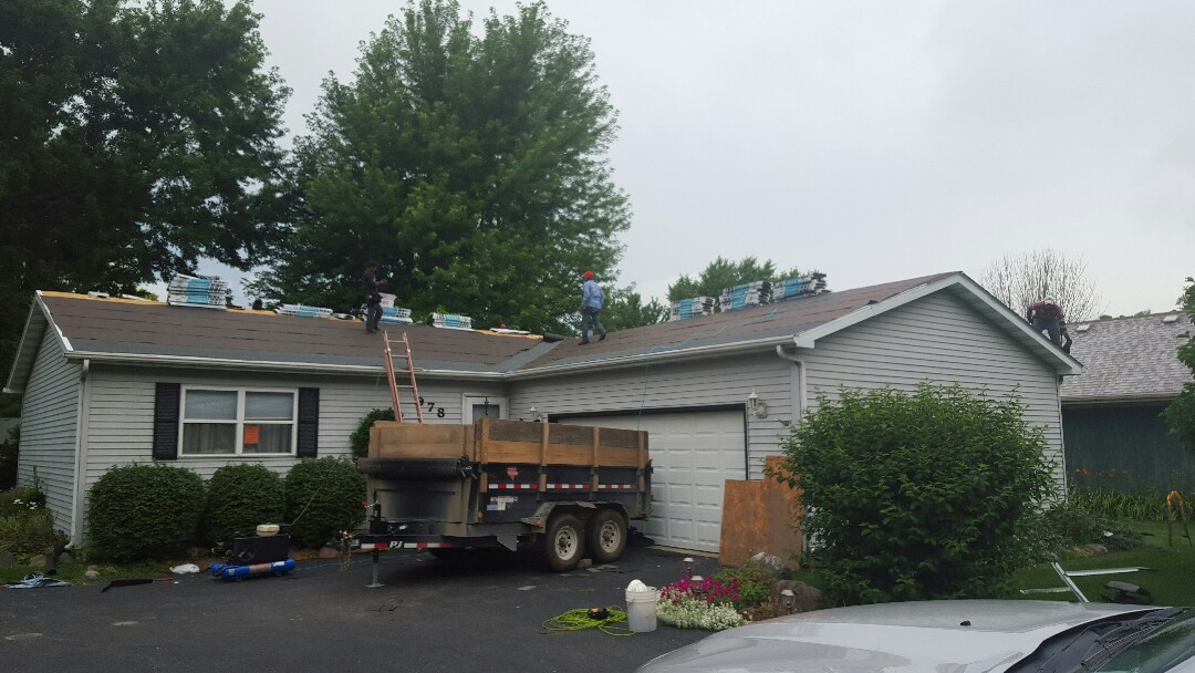 Sandwich, IL - New IKO Cambridge AR roofing project starting today in Lake holiday