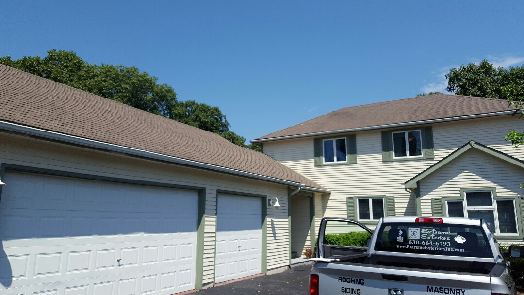 Somonauk, IL - New roof soffit fascia before