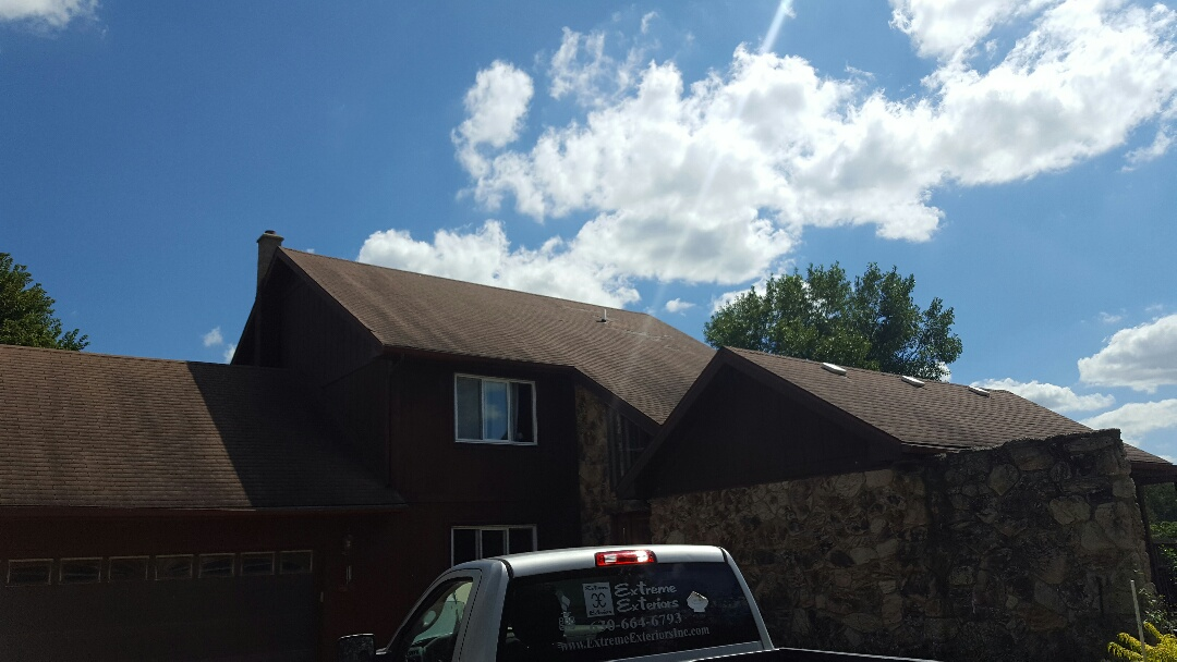Hinckley, IL - IKO Cambridge AR roofing project before pic stay tuned