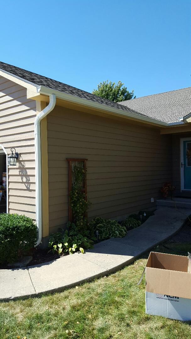 Hinckley, IL - New gutters