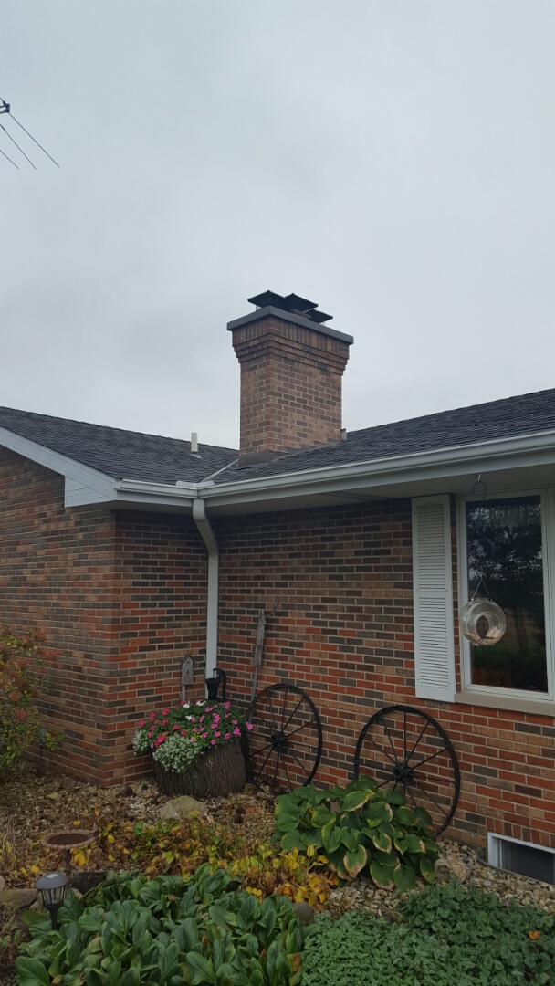 Newark, IL - Roof repair with framing before picture stay tuned for more