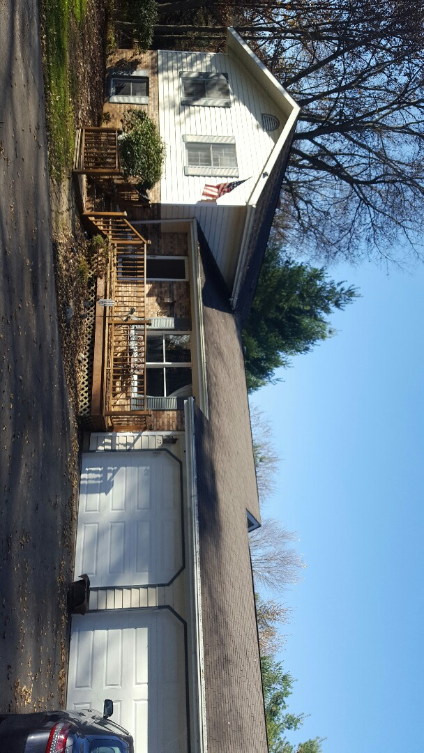 Newark, IL - Before picture of a new aluminum seamless gutter and gutter guard project stay tuned for the after pictures