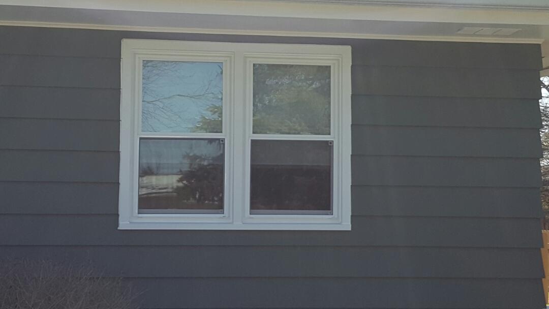 Oswego, IL - Vinyl max white radiance plus double hung windows