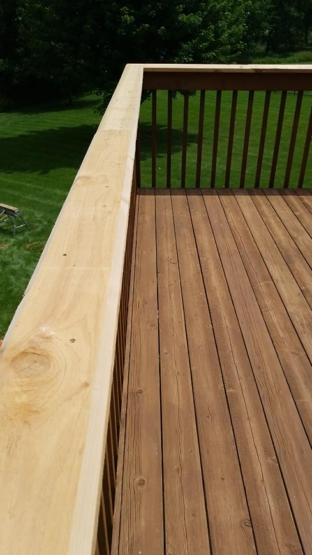 Cedar deck Repairs and Cedar siding repairs