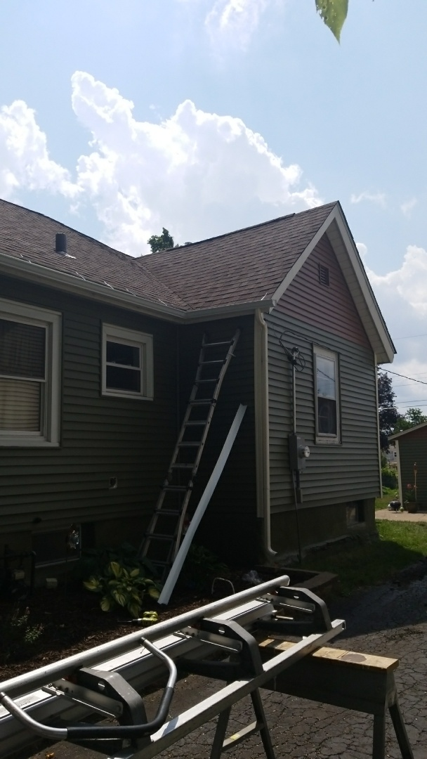 New gutters new siding new roof