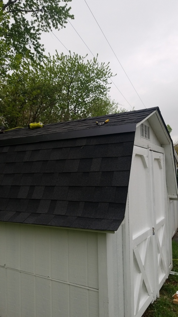 Sandwich, IL - Shed roof repair and door repair for boy scouts and Girl Scouts