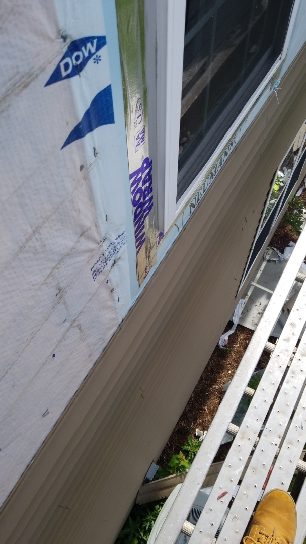 Plainfield, IL - New wall siding hail damage