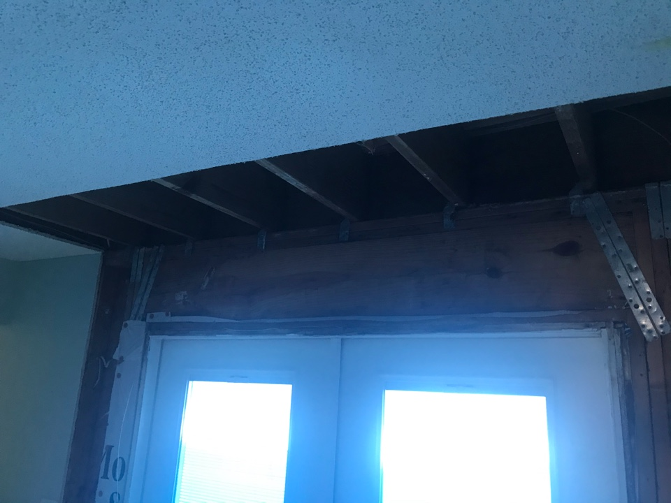 Water came in dining room from the upstairs master, this caused stachybotrys to grow to elevated levels. Will be removing drywall after containment is setup and HEPA equipment is placed.