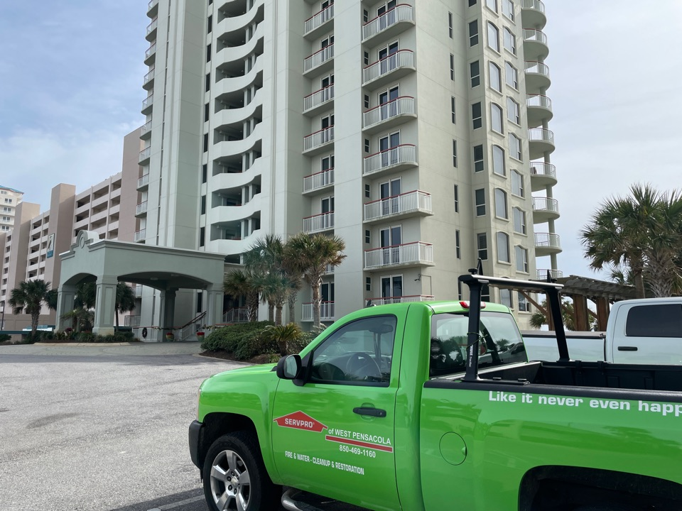 Navarre, FL - Two condo units had issues with microbial growth, recommended electrostatic spraying of contents, duct cleaning and placement of hydroxyl generator and HEPA air scrubber for 48 hours to bring the units back to a manageable level.