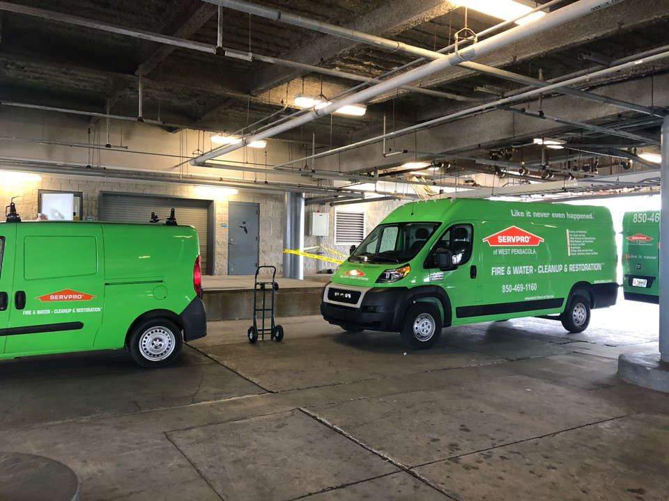 Commercial Water Job at Pensacola International Airport. Quick response and turn around time from the Crew at Servpro West Pensacola in North Pensacola!