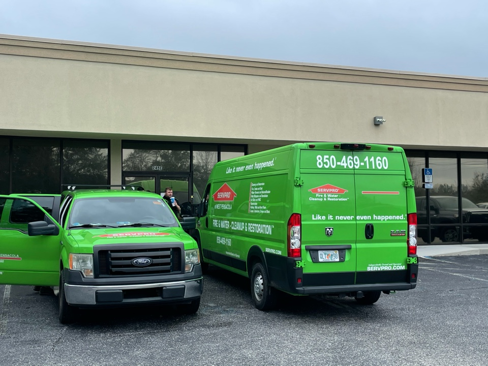 Pensacola, FL - Commercial customer called and had an office manager test positive for Covid-19 and asked us to sanitize the entire office. Our team spent 2 days sanitizing and electrostatic treating all surfaces and contents.