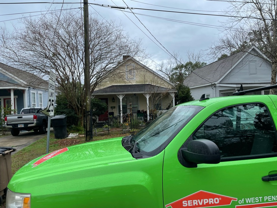 Pensacola, FL - One in East Hill had a washer and dryer leak, the water when on undetected and caused mold to grow inside the wall cavity. We are recommending an air quality and a swab test be performed by an independent mold assessor to make sure the growth is not black mold before any work is done.